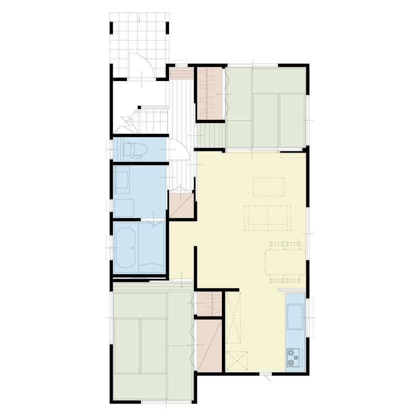 デッドスペースを有効活用した二世帯住宅画像4