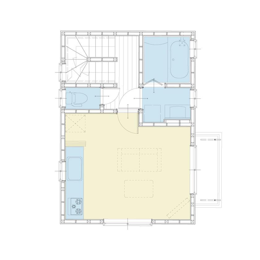 約15坪の狭小地に建てた3階建ての事務所兼住宅画像5