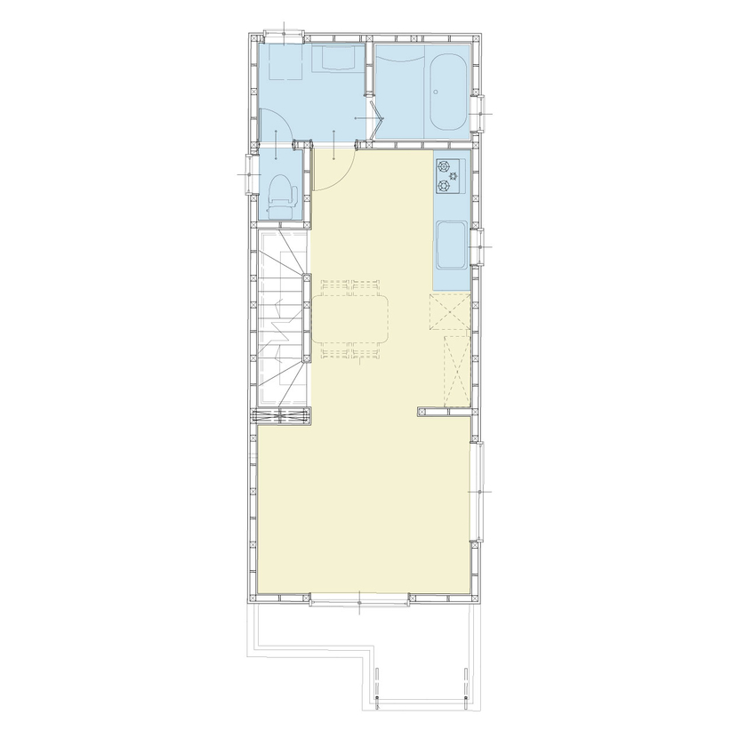 【屋上付3階建て】限られた敷地に有効的に建てられた空間設計画像5