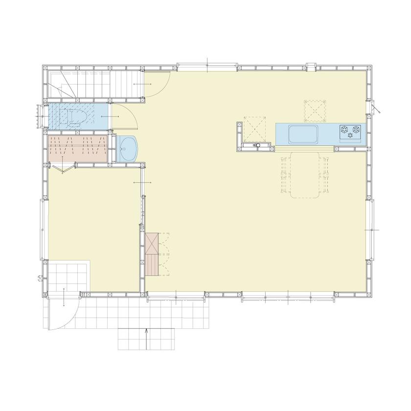 フラダンス教室と美容院を併設したお家画像4