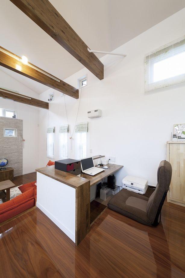 【平屋】プライバシーも守る光の設計。開放的なスキップフロアの平屋の家画像3