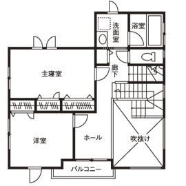 大きな吹抜け、心地よいインテリア 自由設計だからこそできた理想の家画像5