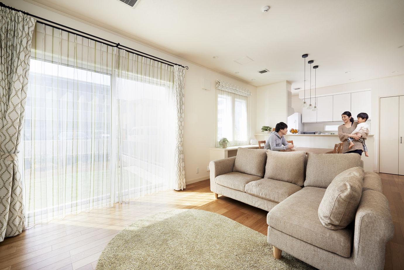 健康空調で家中がいつも一定の室温 オープンな間取りで伸び伸び暮らす画像1