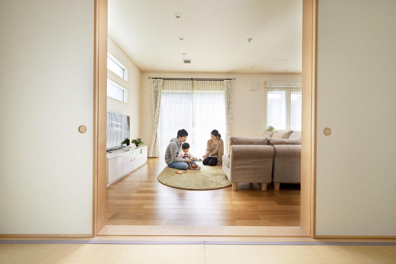 健康空調で家中がいつも一定の室温 オープンな間取りで伸び伸び暮らす画像3