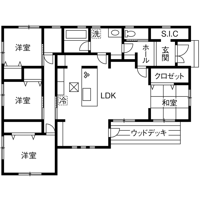 【1000万円台/約30坪】仲良し5人家族の元気と笑顔がはじける、赤い屋根の可愛い平屋画像4