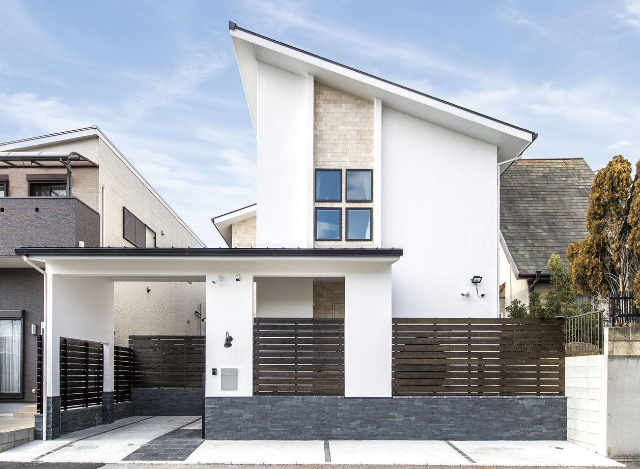 【大阪・4000万円~・おしゃれな家】爽やかな空気が巡る漆喰塗りの家。吹抜けの大空間LDKで開放感を味わう画像2
