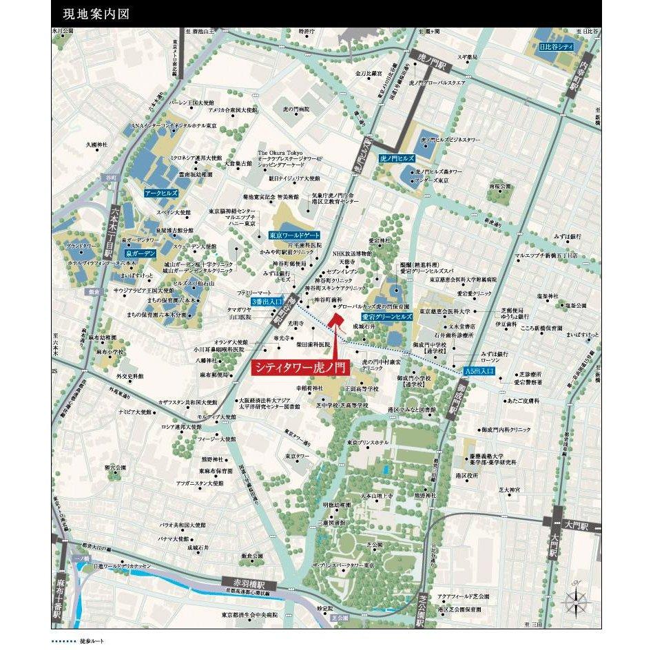 シティタワー虎ノ門の現地案内図