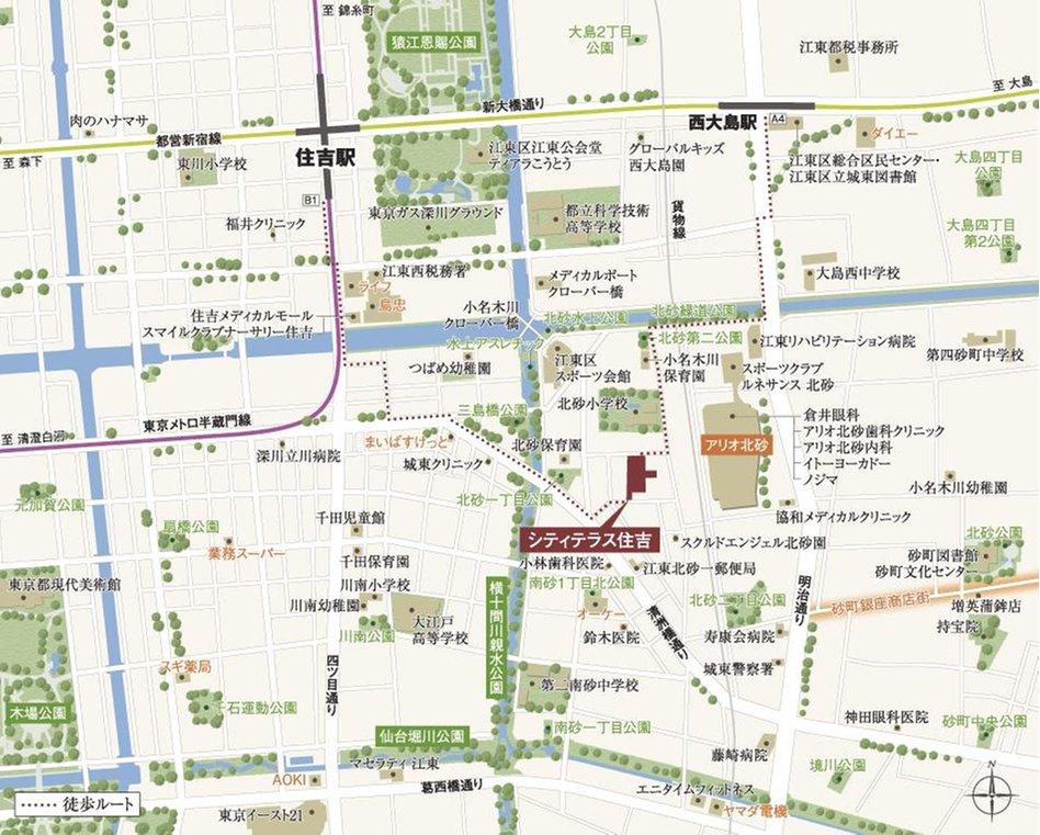 シティテラス住吉の現地案内図