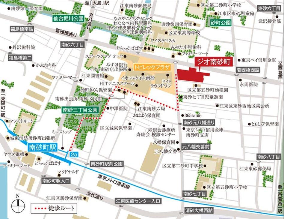 ジオ南砂町の現地案内図