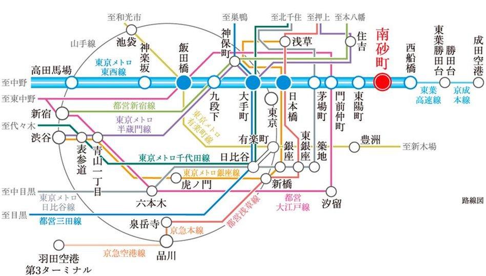 ジオ南砂町の交通アクセス図