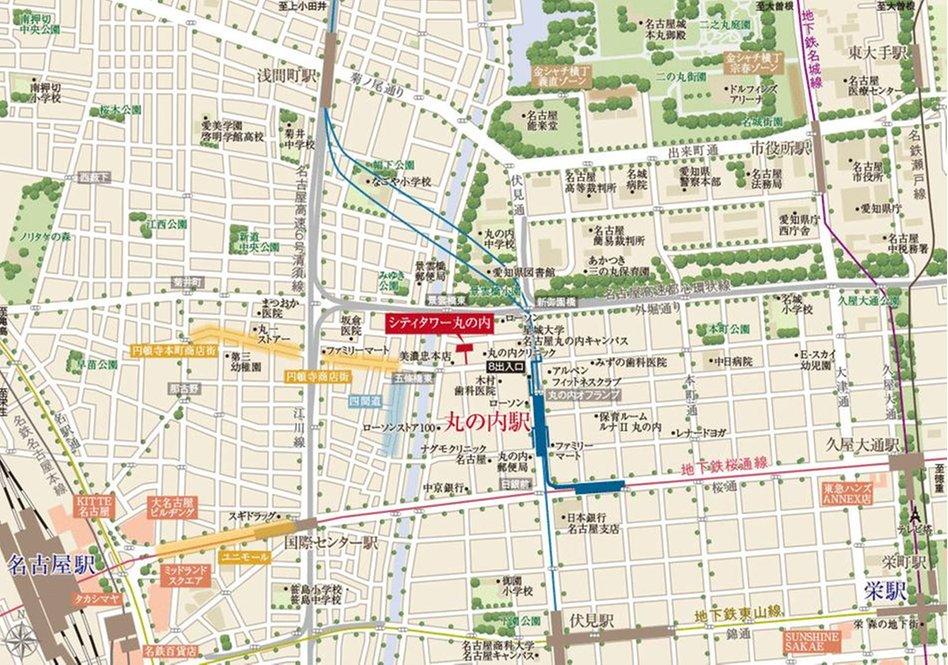 シティタワー丸の内の現地案内図