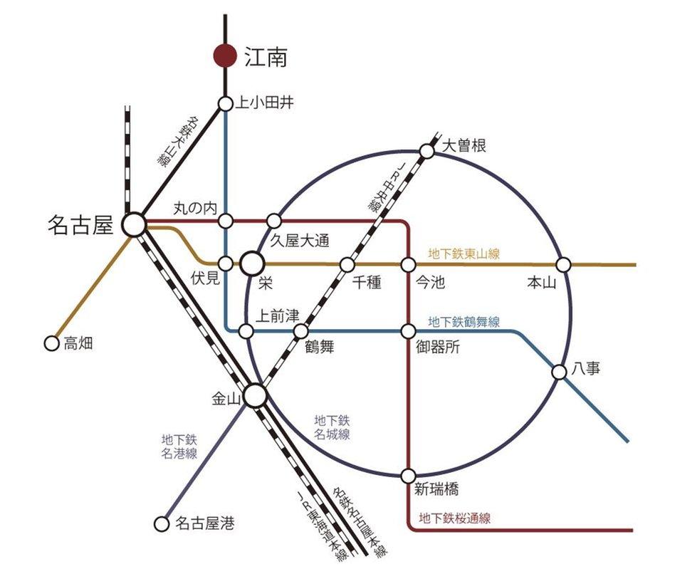 ロフティ江南セントラルアベニューの交通アクセス図