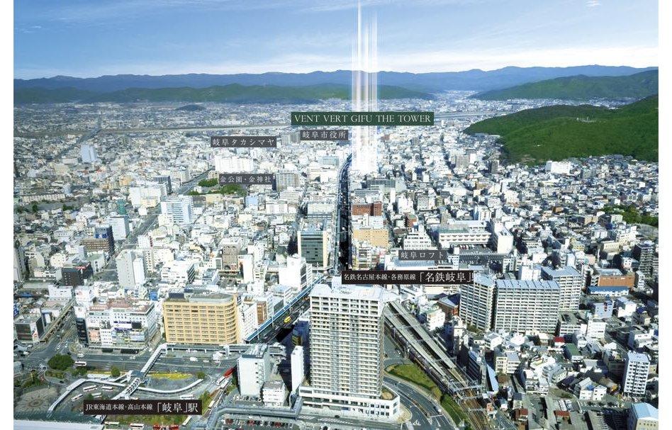 バンベール岐阜ザ・タワーの立地・アクセス画像