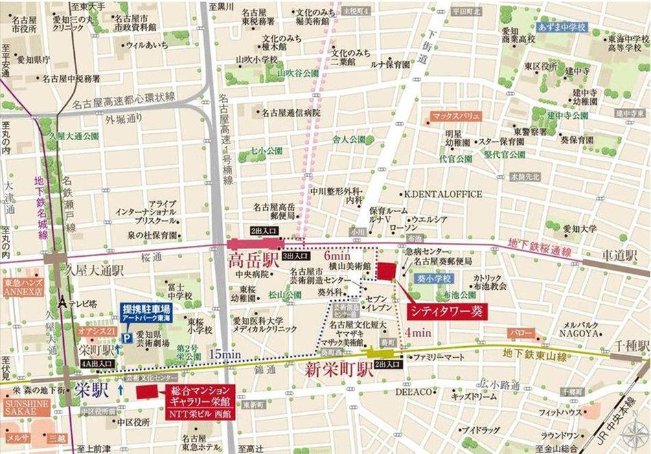 シティタワー葵の現地案内図