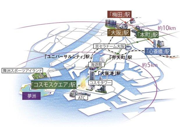 大阪ベイレジデンスの立地・アクセス画像