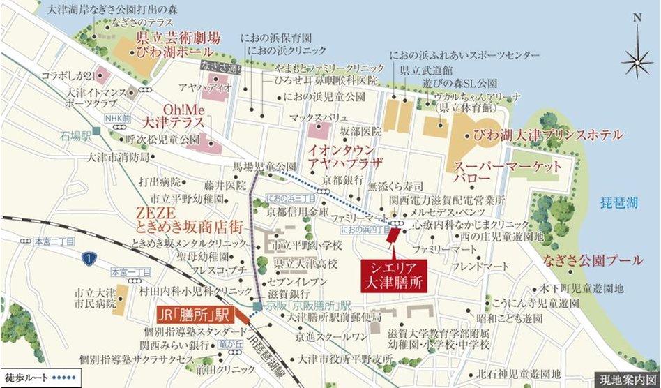 シエリア大津膳所の現地案内図