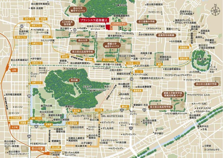 ブランシエラ道後樋又の現地案内図