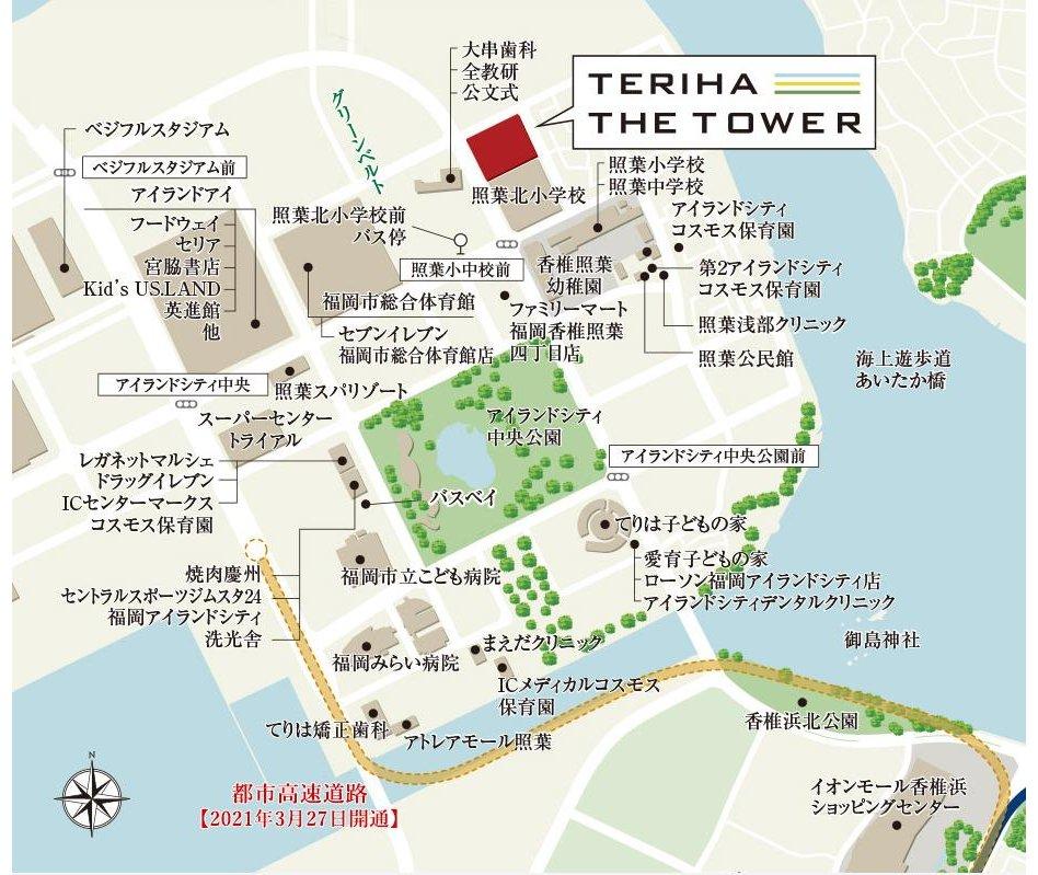 照葉ザ・タワーの現地案内図