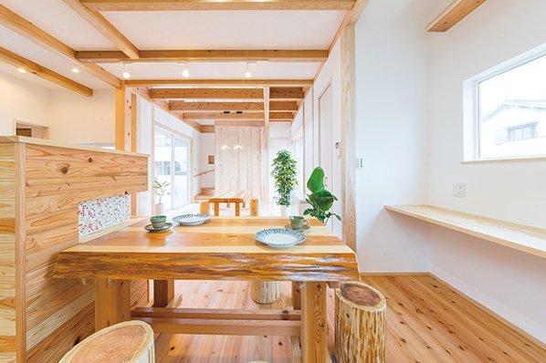 木と漆喰 十津川の家 高槻住宅展示場8