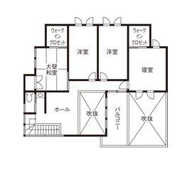 住友林業の実例間取図(2階)