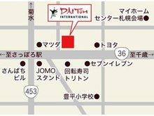 36号線に面する建物で「赤い看板」が目印です。