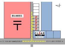 駐車場は弊社と郵便局の間の道路を入ってすぐ右手側に5台分ございます。