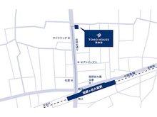 店舗地図 小田急線「祖師ヶ谷大蔵駅」徒歩約4分!ウルトラマン商店街にある不動産会社です。