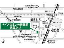 店舗地図 東急東横線 『 武蔵小杉』駅 』 徒歩2分 【P有り】 店舗前にお客様用駐車場がございます