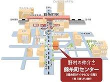 錦糸町駅南口より徒歩4分、1階が三菱UFJ銀行のビルの5階です。