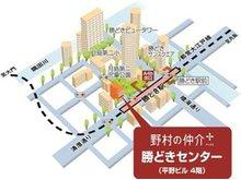 都営大江戸線「勝どき」駅 2分、清澄通りに面した月島第二児童公園の隣のビル4階です。