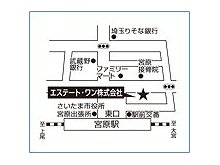 JR高崎線「宮原」駅東口 徒歩1分! お車でお越しのお客様には専用駐車場もご用意しております!