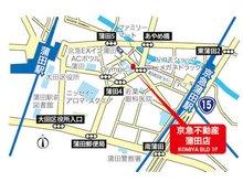JR・東急線蒲田駅から徒歩5分、京急蒲田駅から徒歩4分、に位置します。近隣の有料パーキングをご利用いただければ駐車料金は当社にて負担させていただきますのでスタッフにお申し出ください。