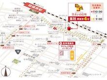 電車でお越しの方はJR横浜線「相模原駅」南口より矢部駅方向に歩いて4分、左手に赤い看板がございます。お車でお越しの方は提携駐車場(相模原5-1 タイムズ相石パーク相模原No.2)にお停めください。