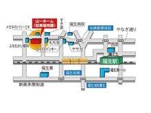お車でお越しの際は「福生市加美平2丁目14-1」と入力してください。店舗地図・駐車場もご用意しております。