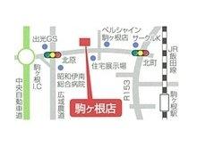 中央自動車道駒ケ根インターチェンジ出口を左折し、信号機交差点を二カ所通過してから左手にございます。