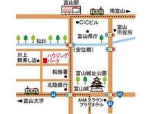 富山城址公園近く、市電「丸の内電停」から徒歩3分