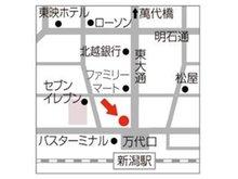 新潟駅万代口を出た目の前の大きなビルの4階にございます。落ち着いた店内でしっかりと大切なご相談をお受けいたします。駐車場ご利用の方はご来店前にご連絡ください。