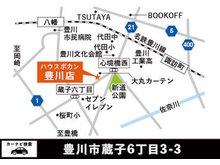 【店舗地図】名鉄豊川線「諏訪町駅」から車で約5分、徒歩で約17分の場所にあります。