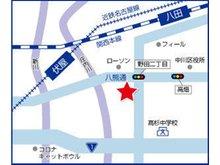 八熊通沿い「野田二丁目」交差点角にハウスドゥ!中川区八熊通野田店はございます。お客様駐車場も、10台完備しております。