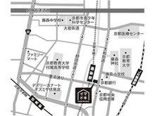 近鉄「桃山御陵前」駅」から徒歩5分。京阪「伏見桃山」駅から徒歩3分。駐車場もございます。
