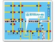 青山町の交差点より東へ300メートル。駐車場は店舗横にありますのでお気軽にお車でご来店ください。