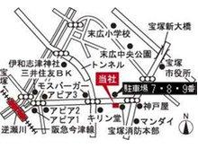 宝塚市消防本部西隣のビルです。阪急逆瀬川駅からは、宝塚市役所方面(東方向)へ。駐車場は当ビル道向いの大型駐車場(7番・8番・9番)