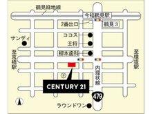 大阪メトロ長堀鶴見緑地線『今福鶴見』駅から内環状線を南へ!ココス・王将を越えて柳本歯科を西に曲がると見えてくる広い間口のセンチュリー21が弊社でございます!