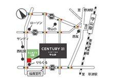 守山市の焔魔堂公園横。お車でお越しの際は、店舗となりの駐車場へお停めください。