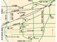 旧2号線(県道)西長瀬バス停 南約200m