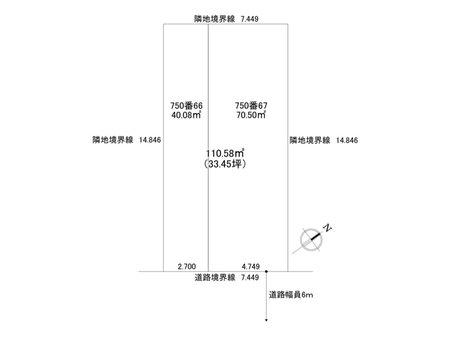 新琴似八条15 1770万円 土地価格1770万円、土地面積110.58㎡