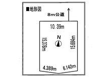 土地価格100万円、土地面積165.67㎡地型図