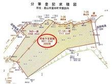 富田町字諏訪内 2億1000万円 土地価格2億1000万円、土地面積9,917.53㎡地形図