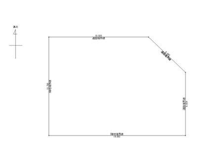 楯岡新町3(村山駅) 490万円 土地価格490万円、土地面積153.85㎡配置図