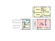 吉岡字道下 3580万円 価格3580万円、3LDK+S、土地面積76.9㎡、建物面積123㎡